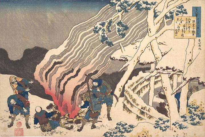 さり ば ぞ さま 思 かれ 人目 は 寂し と も も ける 山里 へ 冬 ぬ 草